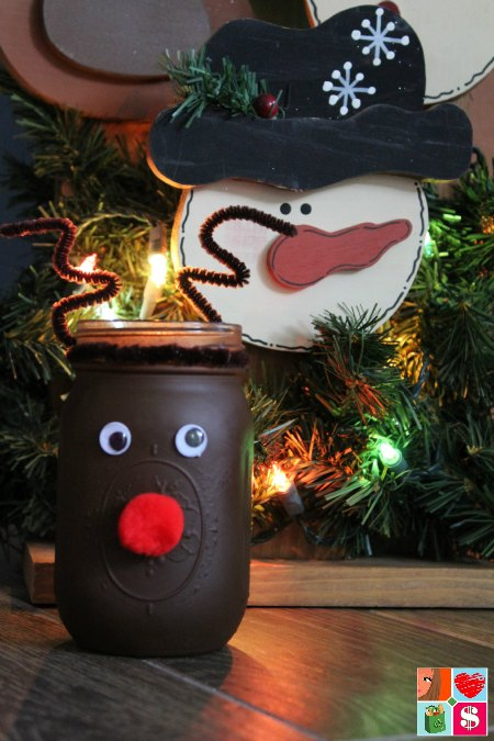 Reindeer Mason Jar Craft