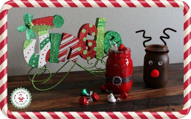DIY Santa Mason Jars