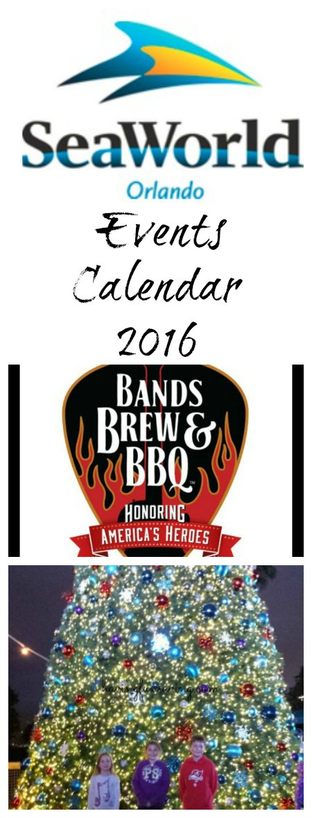 SeaWorld Events Calendar 2016 on Food Wine Sunshine