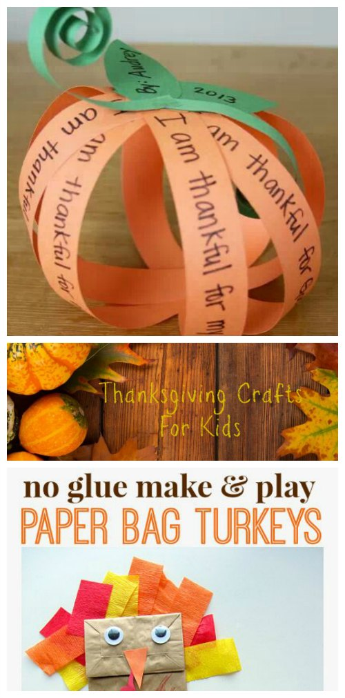 Thanksgiving Crafts for Kids on Food Wine Sunshine