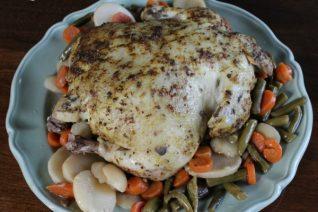 Easy Slow Cooker Chicken Pot Roast Recipe