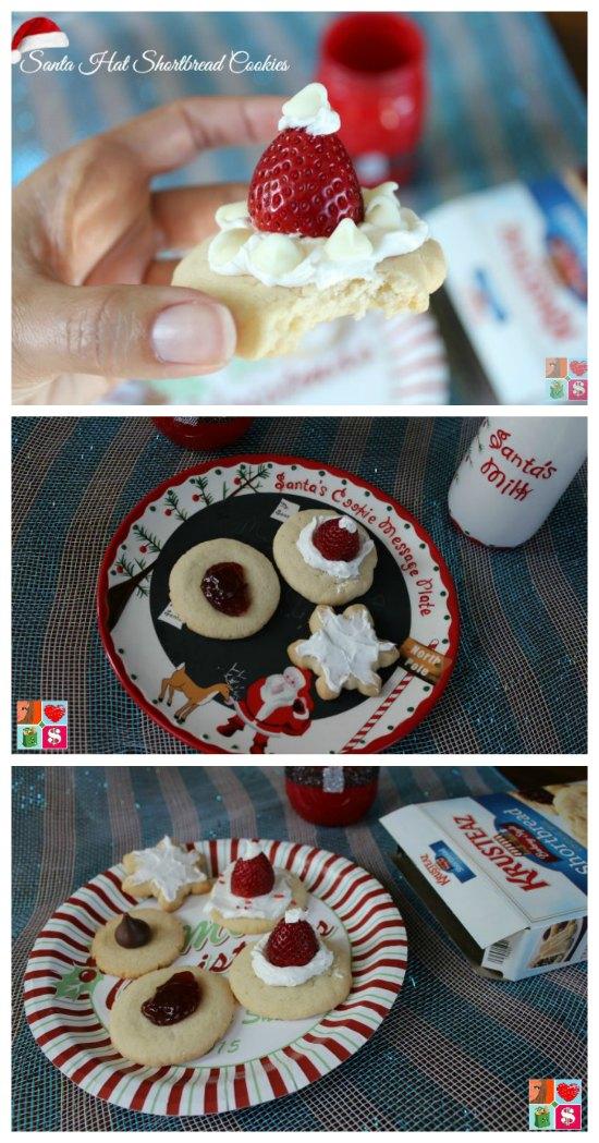 Best Santa Hat Shortbread Cookies