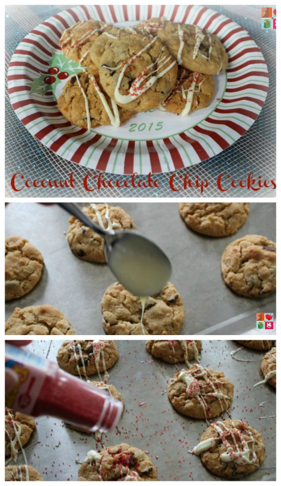 Coconut Chocolate Chip Cookies on Food Wine Sunshine
