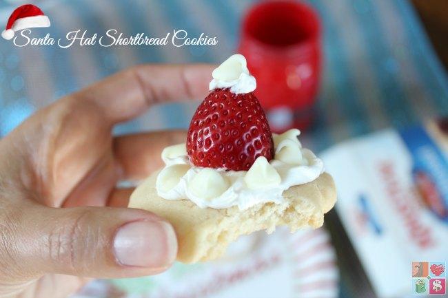 Santa Hat Shortbread Cookies Recipe