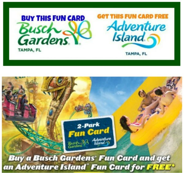 FREE Adventure Island Fun Card With Busch Gardens Fun Card Purchase