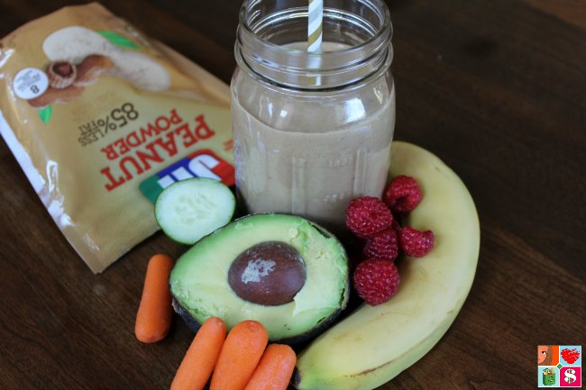 Yummy avoacdo peanut butter smoothie