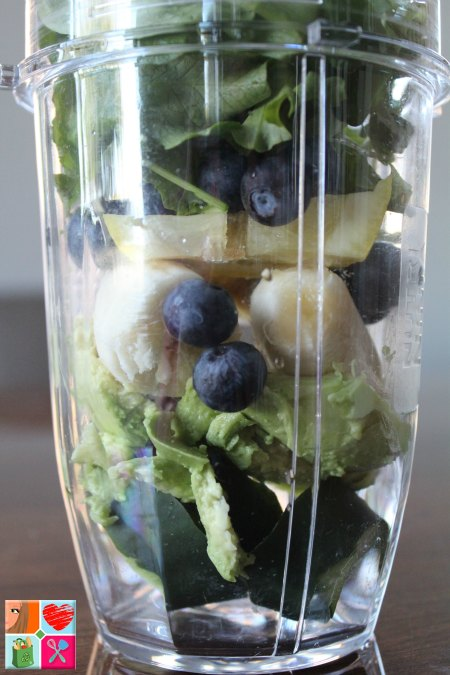 Blueberry Avocado Protein Smoothie