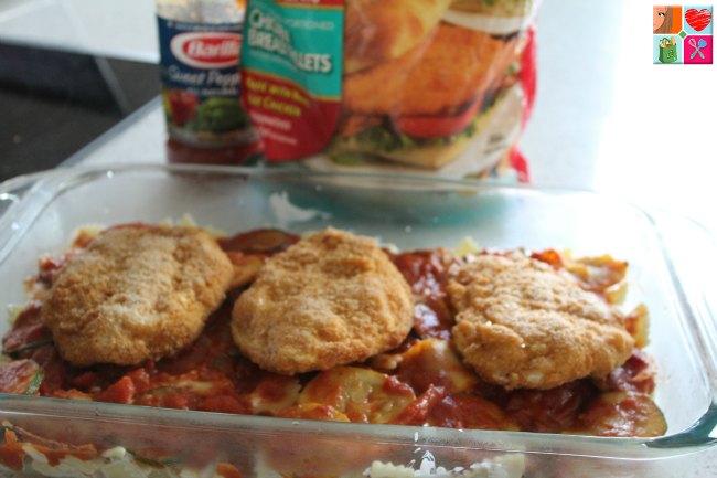 Zucchini Chicken Parmesan Casserole on Food Wine Sunshine
