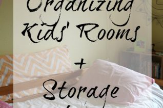 Tips for Organizing Kids' Rooms + Storage Solutions on Food Wine Sunshine