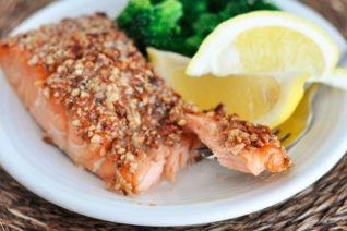 Pecan Maple Crusted Salmon Recipe