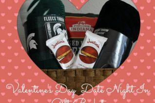 Valentine's Day Date Night In Gift Basket on Food Wine Sunshine