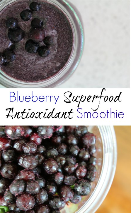 Superfood Antioxidant Smoothie with blueberries