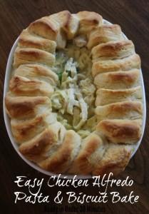 Easy Chicken Alfredo Pasta & Biscuit Bake Recipe