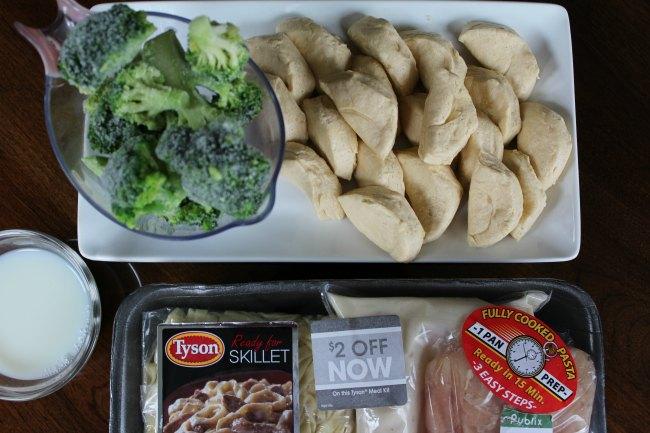 Easy Chicken Alfredo Pasta & Biscuit Bake Recipe on Food Wine Sunshine