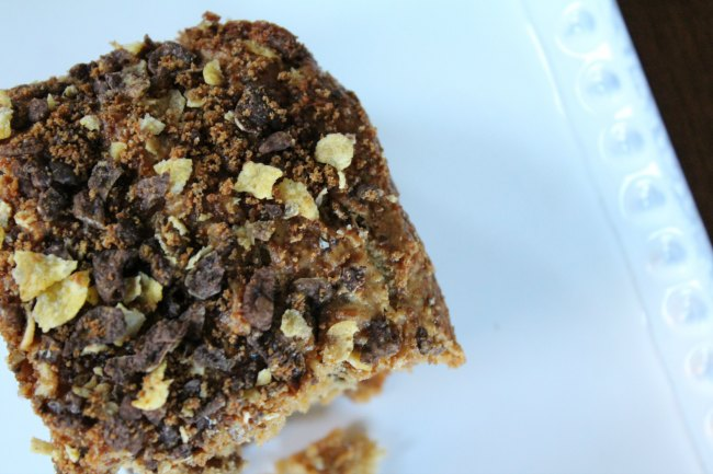 Chocolate Coffee Cake made with Homey Bunches of Oats Chocolate on Food Wine Sunshine and Cooking