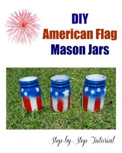 DIY American Flag Mason Jars on Food Wine Sunshine