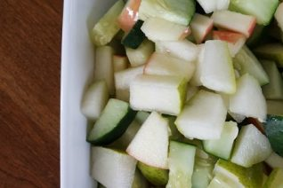 Apple Cucumber Pear Salad on Food Wine Sunshine and Cooking