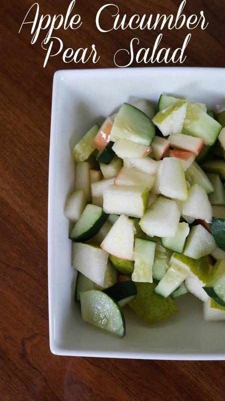 Apple Cucumber Pear Salad on Food Wine Sunshine and Cooking