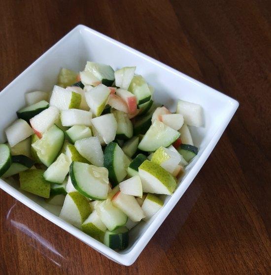 Apple Cucumber Pear Salad Recipe on Food Wine Sunshine