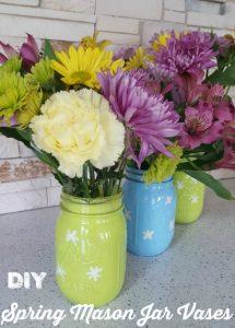 Mason Jar Spring Vases