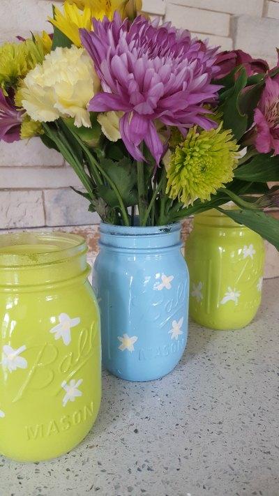 Spring Mason Jar Vases