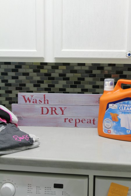 Handpainted Laundry Room Sign
