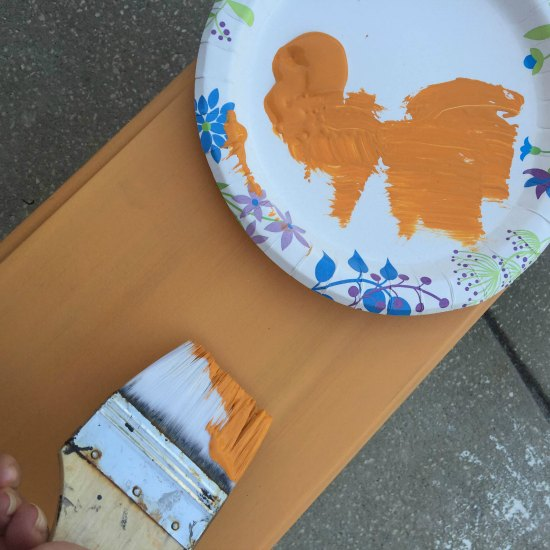 Hand painted garden boxes