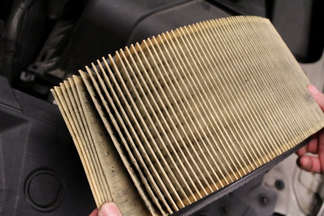 How To Change Your Vehicle Air Filter - Dirty Air Filter
