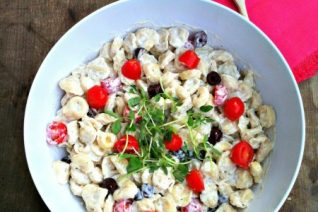 Creamy Tortellini Salad recipe on Food Wine Sunshine and Cooking