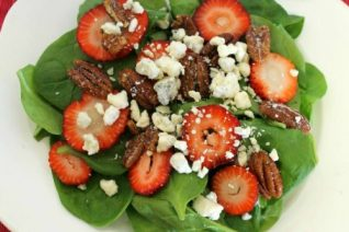Strawberry Spinach Salad on Food Wine Sunshine and Cooking
