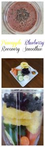 Pineapple Blueberry Recovery Smoothie on Food Wine Sunshine and Cooking