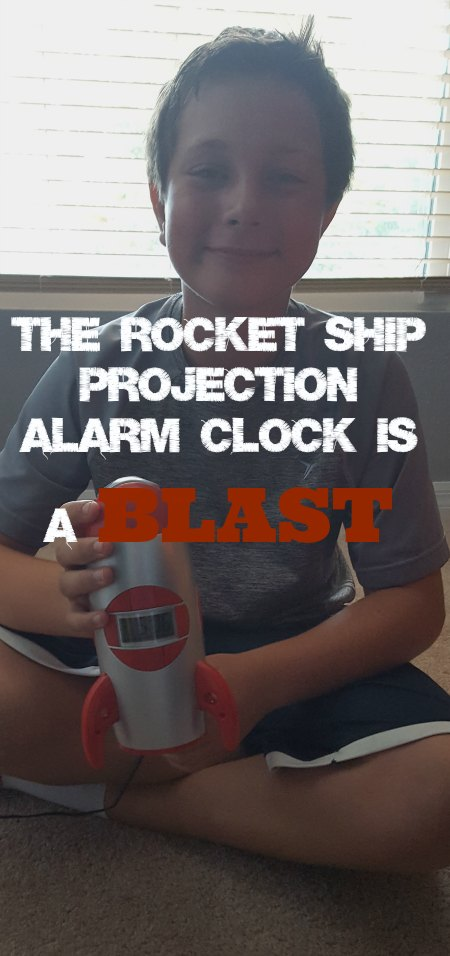 The Rocket Ship Projection Alarm Clock is a BLAST on Food Wine Sunshine