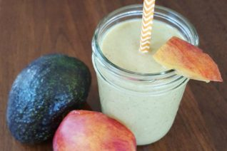 Avocado Peach Power Smoothie on Food Wine Sunshine and Cooking