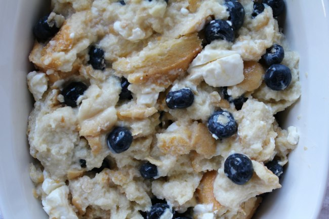 Breakfast Casserole with blueberries