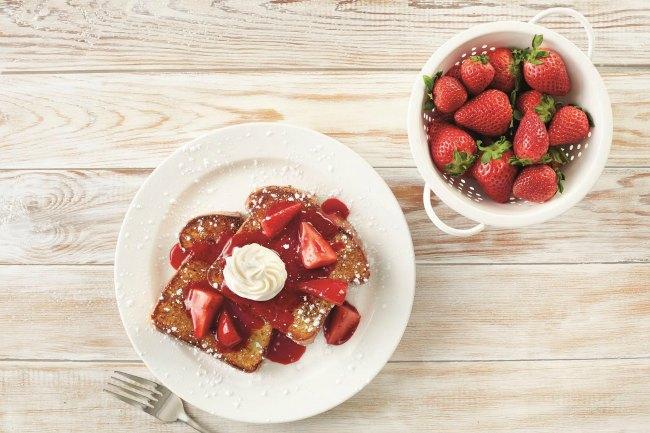 Strawberry French Toast at Bob Evans
