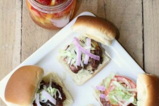 Bacon Blue Cheese Sliders on Food Wine Sunshine and Cooking