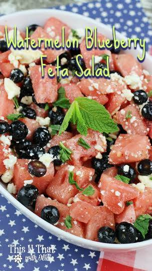 Watermelon Blueberry Feta Salad Recipe on Food Wine Sunshine and Cooking