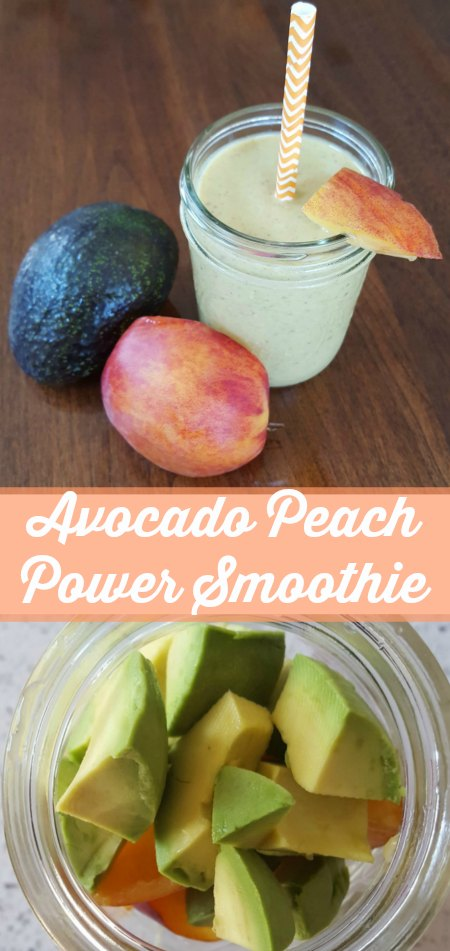 Avocado Peach Power Smoothie