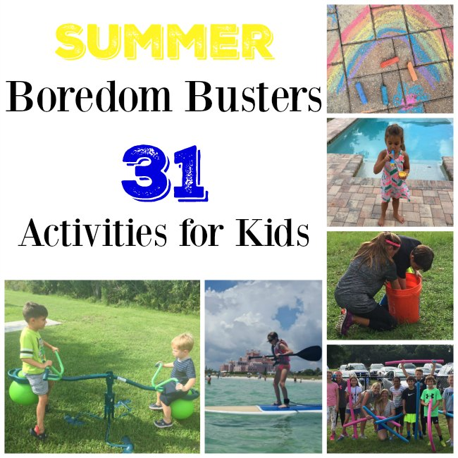 Summer Boredom Busters - 31 Activities for Kids on Food Wine Sunshine