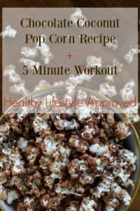 Chocolate Coconut Popcorn Recipe - Healthy Lifestyle Approved on Food Wine Sunshine and Cooking