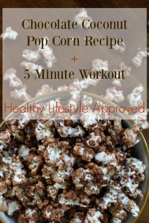 Healthy Chocolate Coconut Popcorn