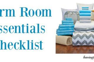 Dorm Room Essentials on Food Wine Sunshine