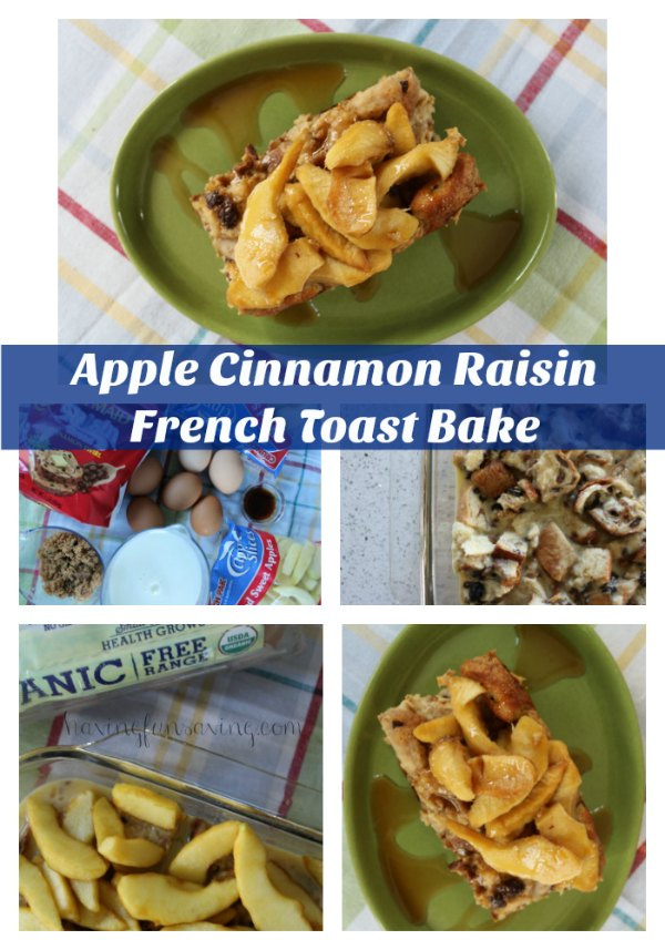 Apple Cinnamon Raisin French Toast Bake on Food Wine Sunshine and Cooking