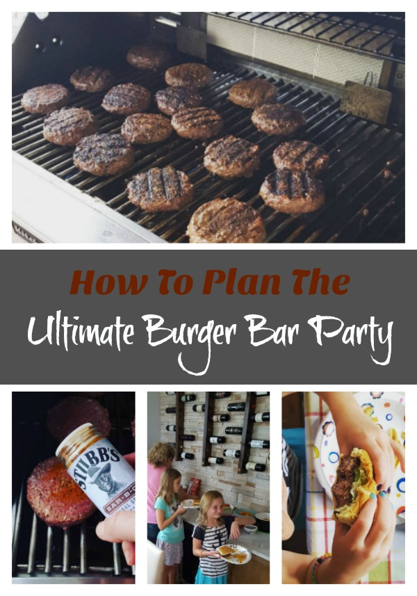 How To Plan a Burger Bar Party