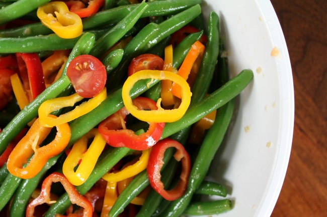 Colorful Fresh Green Bean Salad recipe