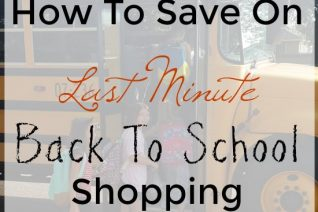 How To Save On Last Minute Back To School Shopping