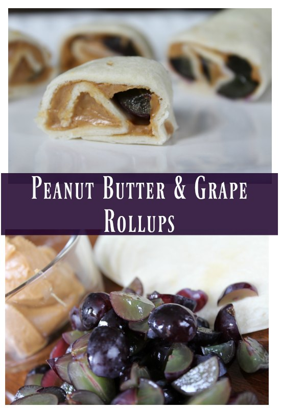 Easy Peanut Butter & Grape Rollups