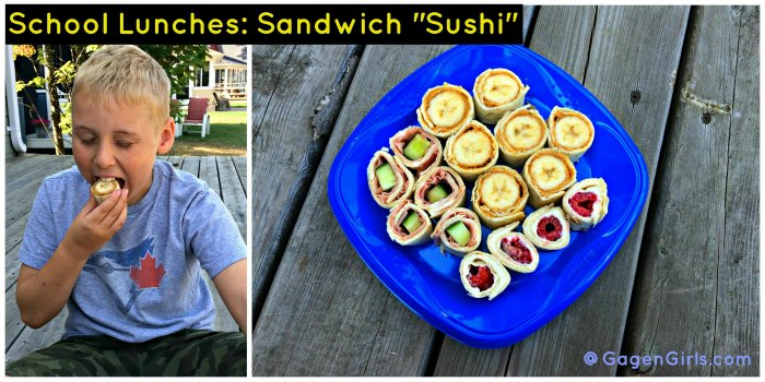 Sandwich Sushi on Food Wine Sunshine and Cooking