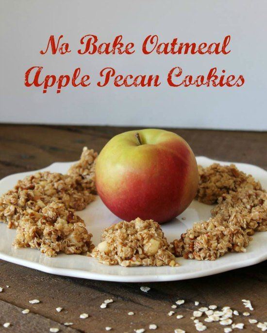 No Bake Oatmeal Apple Pecan Cookies on Food Wine Sunshine and Cooking