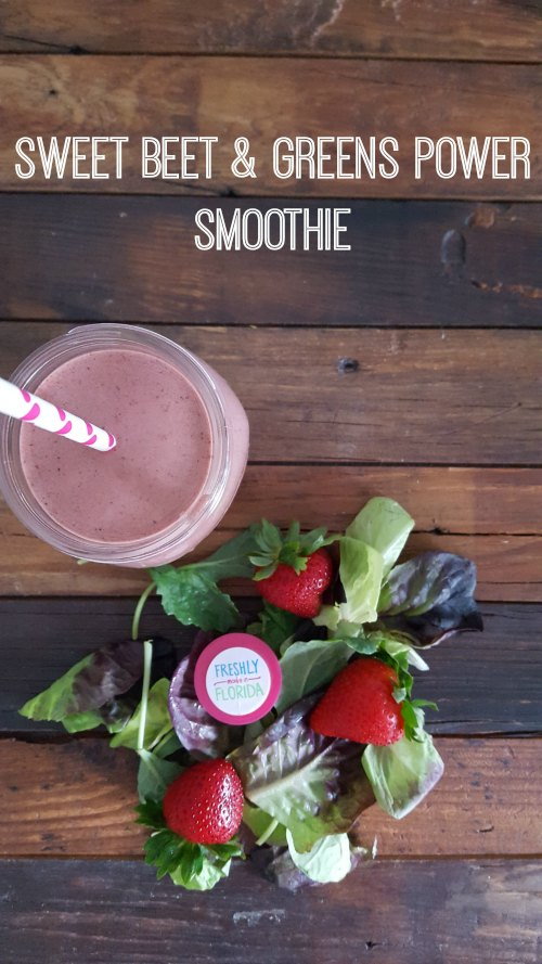 Sweet Beet & Greens Power Smoothie on Food Wine Sunshine and Cooking